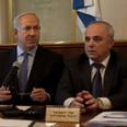 PM Netanyahu with Finance Minister Steinitz. Budget compromise likely Photo: Getty Images