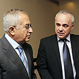 Finance Minister Yuval Steinitz with Palestinian PM Salam Fayyad Photo: Moshe Milner