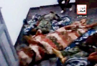 גופות חיילי צבא מצרים - על פי עיתון במצרים