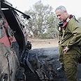 IDF Chief Ganzt at the scene of the attack Photo: IDF Spokesperson's Unit