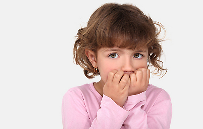 A fearful child - stock photo.