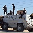 Egyptian forces clash with militants Photo: AFP