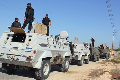 Egyptian security forces in Sinai (Photo: AFP)