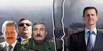 השבר הסורי. אסד, אל-אסעד, חיג'אב ופארס (צילום: רויטרס, AFP)