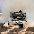 IDF vehicle on border (Archives) Photo: Reuters