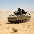 Egyptian tank in Sinai Photo: MCT