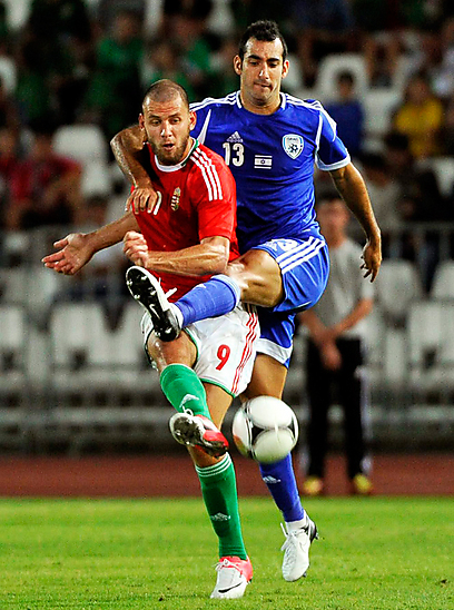 Dan Mori representing Israel against Hungary (Photo: EPA)