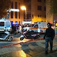 Scene of attack in Jerusalem Photo: Avraham Bergman, News 24