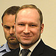Breivik in court Photo: AFP