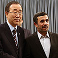 Ban with Iranian President Mahmoud Ahmadinejad Photo: EPA