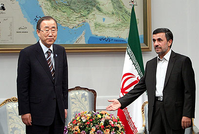 Ban with Ahmadinejad (Photo: EPA)