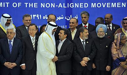 """מנהיגי המדינות ומזכ""""ל האו""""ם בטהרן (צילום: AFP)"""