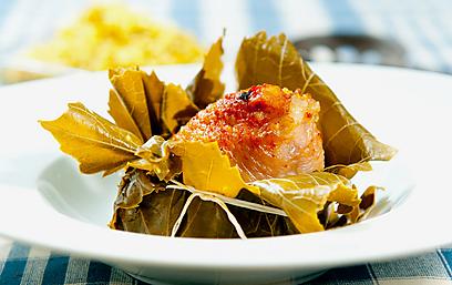 פרגית ממולאת בבורגול, צנובר ולימון (צילום: ירון ברנר)