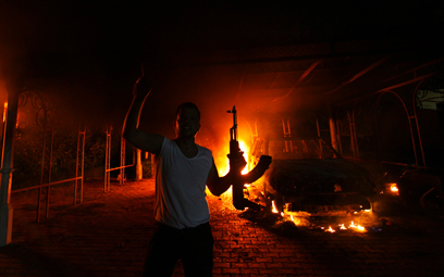 Attack on US Consulate in Benghazi (Photo: Reuters)
