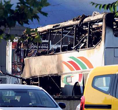 Scene of Burgas bombing (Archive photo: EPA)