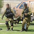 Injured soldier evacuated to hospital Photo: Herzl Yosef