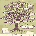 User tracks 16 family members on average. Family tree (illustration) Photo: Shutterstock