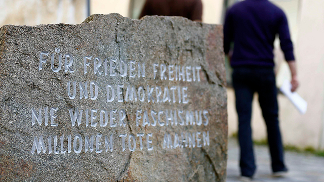 Memorial stone outside Hitler's home (Photo: Reuters)
