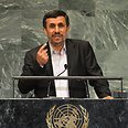 Iranian President Mahmoud Ahmadinejad addresses UN Photo: AFP