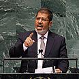 'Peace and security.' Morsi Photo: AP
