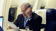 Netanyahu on a flight to the US
