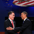 Obama and Romney during first debate Photo: AFP
