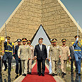 Morsi during ceremony, Saturday Photo: AP