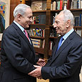 Netanyahu and Peres Photo: GPO