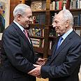 Netanyahu and Peres Photo: GPO
