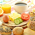 Israeli breakfast - for lunch, dinner, or even at 3 am (archives) Photo: Shutterstock
