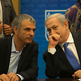 Kahlon (L) and Netanyahu Photo: Ohad Zwigenberg