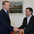 Turkish PM Erdogan with Ahmadinejad Photo: AP
