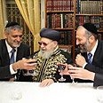 Yosef with Deri and Yishai Photo: Yaakov Cohen, Shas website