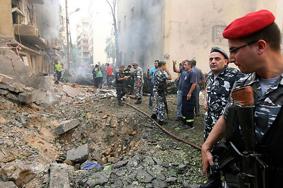 Scene of Friday's blast in Beirut (Photo: Reuters)