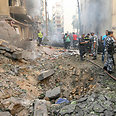 Scene of Beirut bombing Photo: Reuters