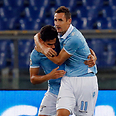 Lazio players. Warning to club's fans Photo: Reuters