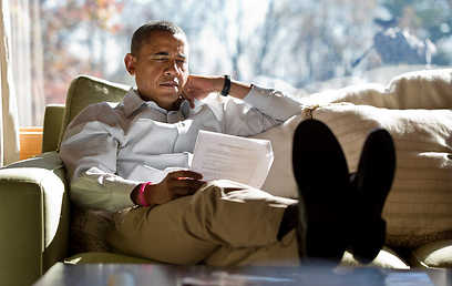 Obama head of Monday's debate (Photo: AFP)