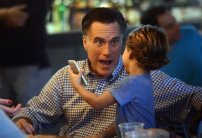 Romney before final debate (Photo: AFP)