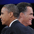 Too close to call. Obama and Romney Photo: AFP