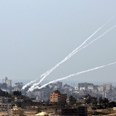Rocket fire on Israel Photo: AFP