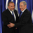 No transparency. Lieberman (L) and Bibi Photo: Gil Yohanan
