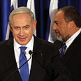 Bibi (L) and Lieberman Photo: EPA
