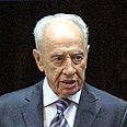 Peres. 'Obama is an extraordinary person' Photo: Ohad Zwigenberg