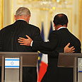 Hollande (R) and Netanyahu Photo: GPO