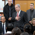 Netanyahu at memorial service Photo: Avi Ohayon, GPO