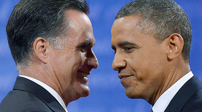 Obama and Romney Photo: AFP