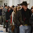 Voters line up in Massachusetts Photo: EPA