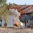 Syrian mortar last hit Israel in November Photo: Avihu Shapira