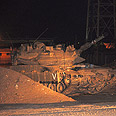 IDf tank at the scene Photo: Reuters