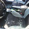 Rocket hits car in Shaar Hanegev Photo: Yanir Kaliser